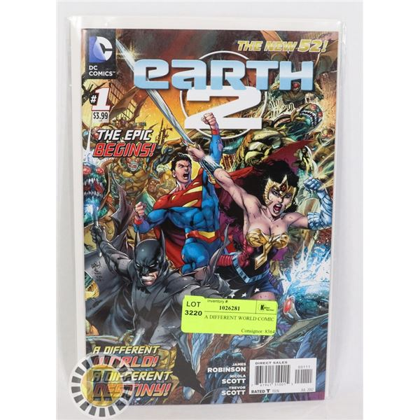 EARTH A DIFFERENT WORLD COMIC BOOK