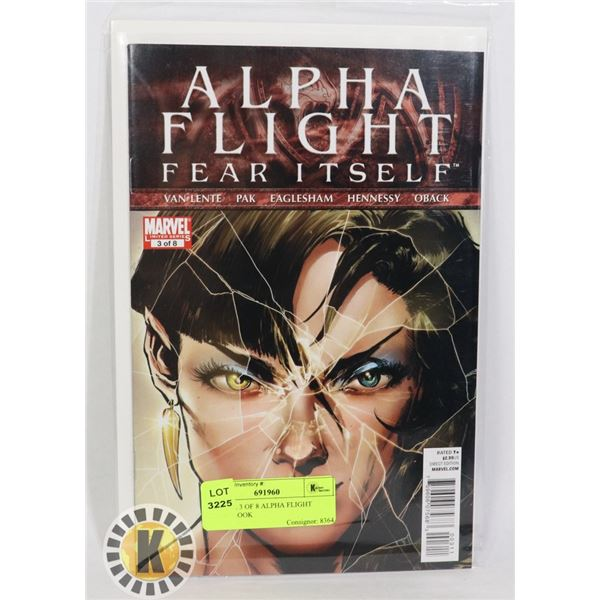 MARVEL 3 OF 8 ALPHA FLIGHT COMIC BOOK