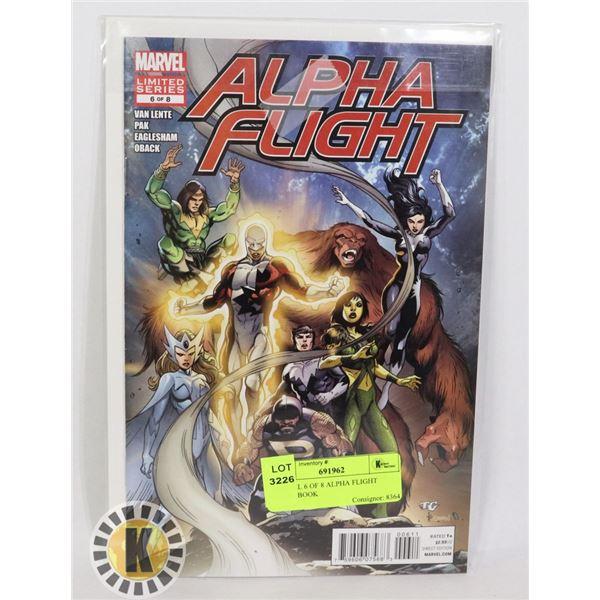 MARVEL 6 OF 8 ALPHA FLIGHT COMIC BOOK