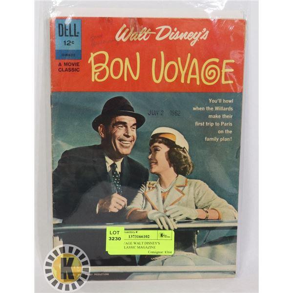 BON VOYAGE WALT DISNEY'S MOVIE CLASSIC MAGAZINE