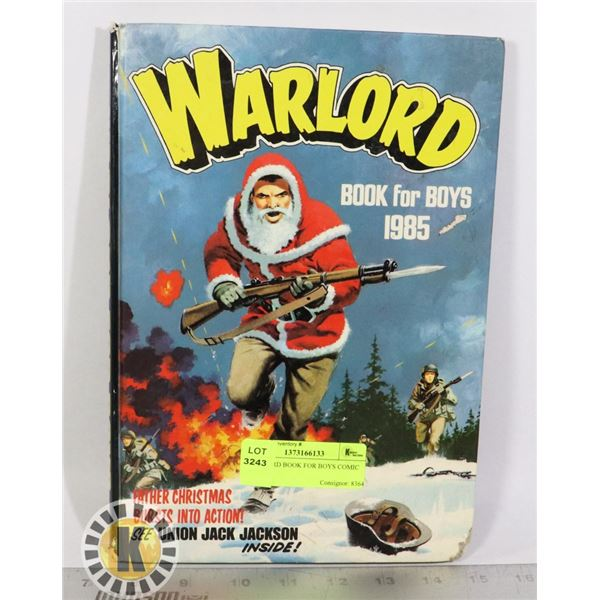 WARLORD BOOK FOR BOYS COMIC BOOK
