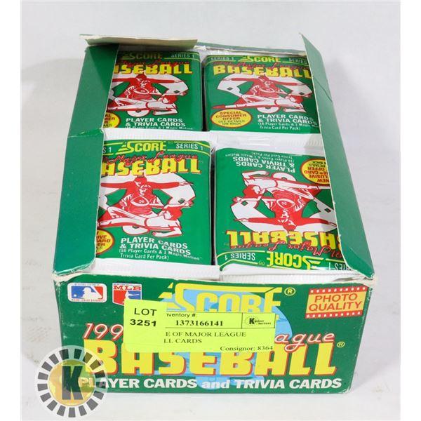 1991 CASE OF MAJOR LEAGUE BASEBALL CARDS