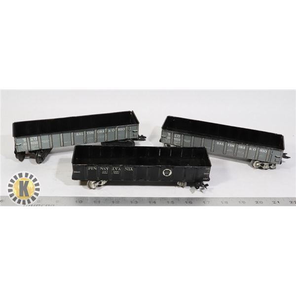 VINTAGE TRAIN WAGONS BLACK