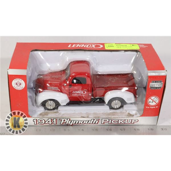 PLYMOUTH PICK UP DIE CAST METAL REPLICA