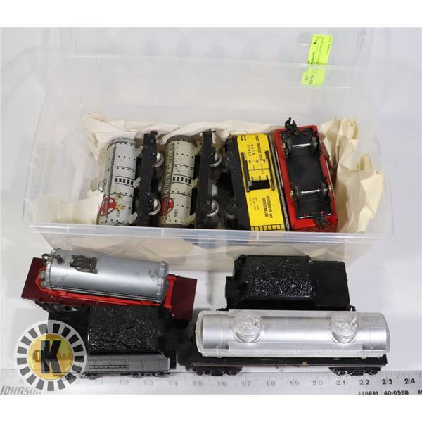 VINTAGE TOY TRAIN CARS PACK OF 4