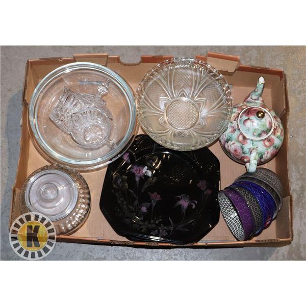 BOX OF SIGNATURE KITCHEN GLASS WEARS