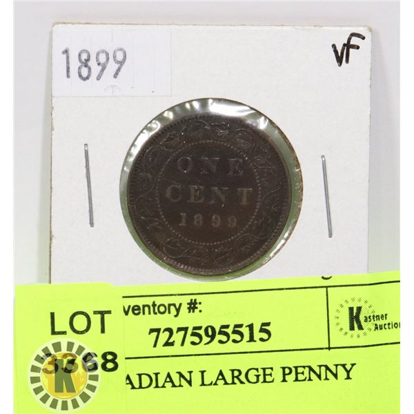 1899 CANADIAN LARGE PENNY