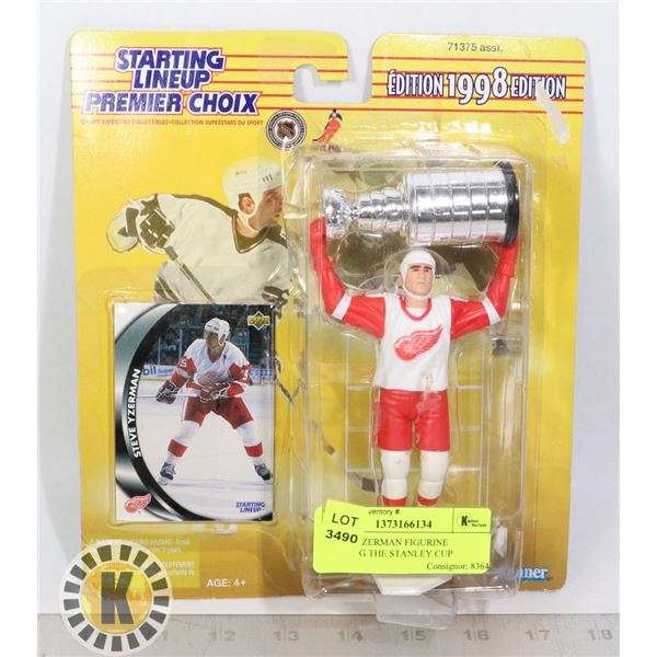 STEVE YZERMAN FIGURINE HOLDING THE STANLEY CUP