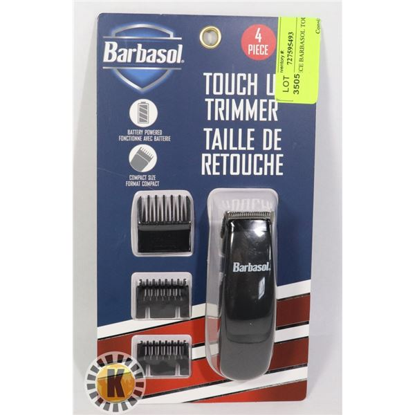 NEW 4 PIECE BARBASOL TOUCH UP TRIMMER