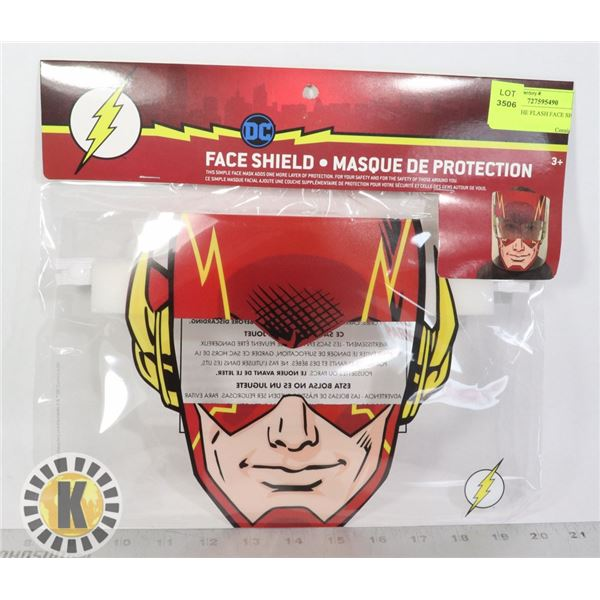 NEW DC THE FLASH FACE SHIELD