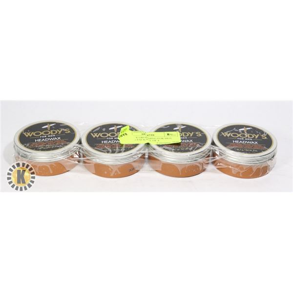 HEADWAX GROOMING FOR MEN WOODY'S PACKAGE OF 4