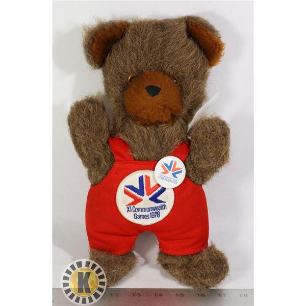 1978 OLYMPIC TEDDY BEAR BROWN
