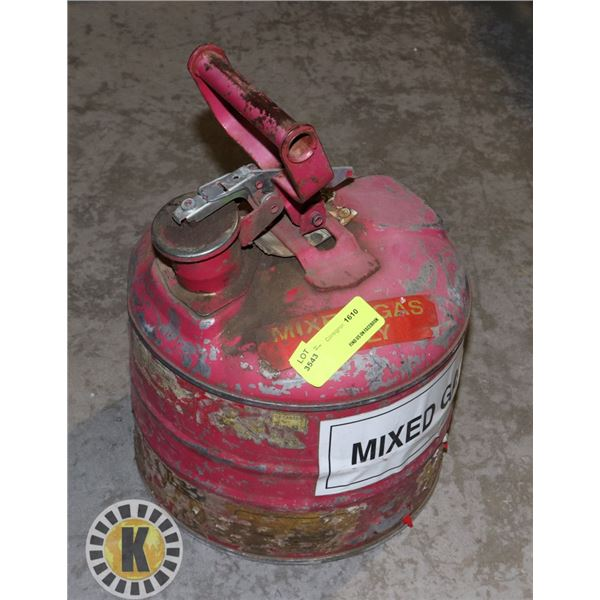 VINTAGE MIXED GAS ONLY CAN