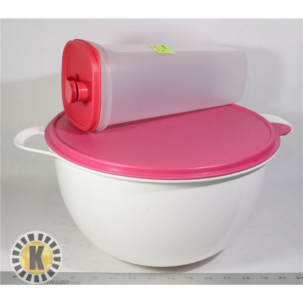 TWO TUPPERWARE CONTAINERS