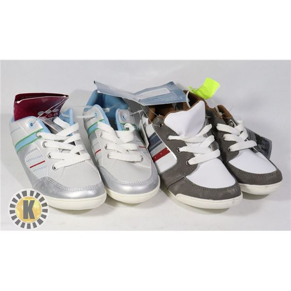 SHOES KIDS US SIZE 33 PAIR OF 2 ASSORTED COLORS