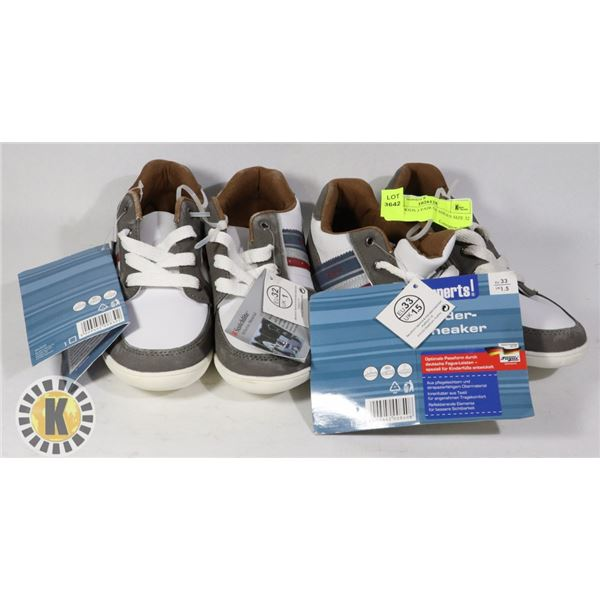 SHOES KIDS 2 PAIR OF SHOES SIZE 32 AND 33