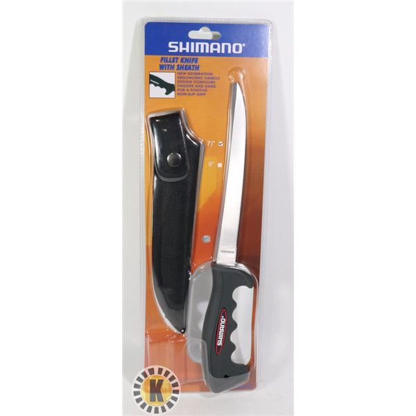 NEW SHIMANO 7 1/2' FILLET KNIFE WITH SHEATH