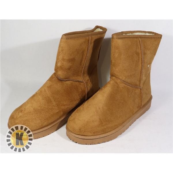 WOMEN'S SUEDE WINTER BOOTS BROWN SIZE 43