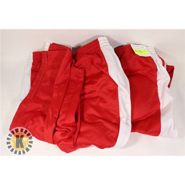 YOUTH RED AND WHITE JOGGING PANTS 3 SIZE S M AND L