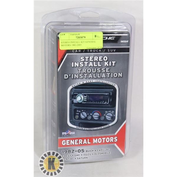 STEREO INSTALL KIT GENERAL MOTORS 1982-2005