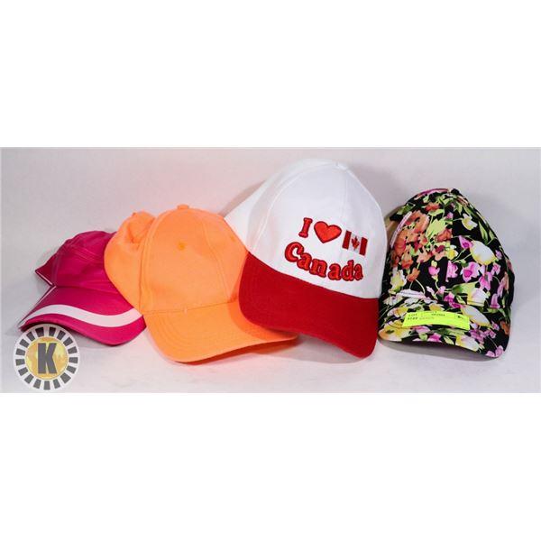 4 LADIES HATS