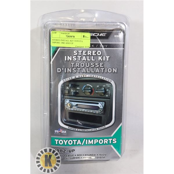 STEREO INSTALL KIT TOYOTA IMPORT 1982 AND UP