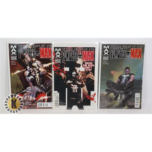 MAX COMICS UNTOLD TALES OF THE PUNISHER MAX #1,2,3