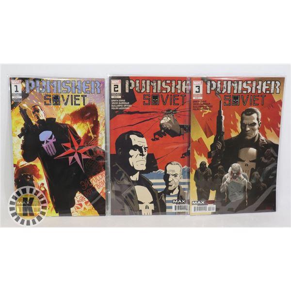 MARVEL COMICS THE PUNISHER SOVIET ISSUES 1-3