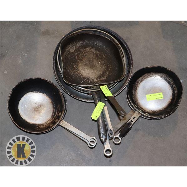 PAIR OF 8 FRYING PANS