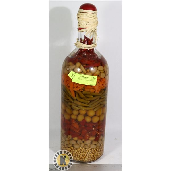 BOOSTER BOTTLE STUFFED WITH PEPPERS
