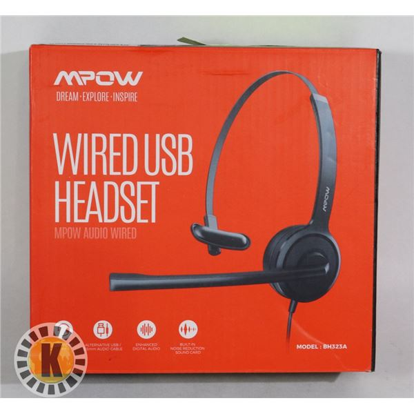 COMPUTER HEAD SET WIRED