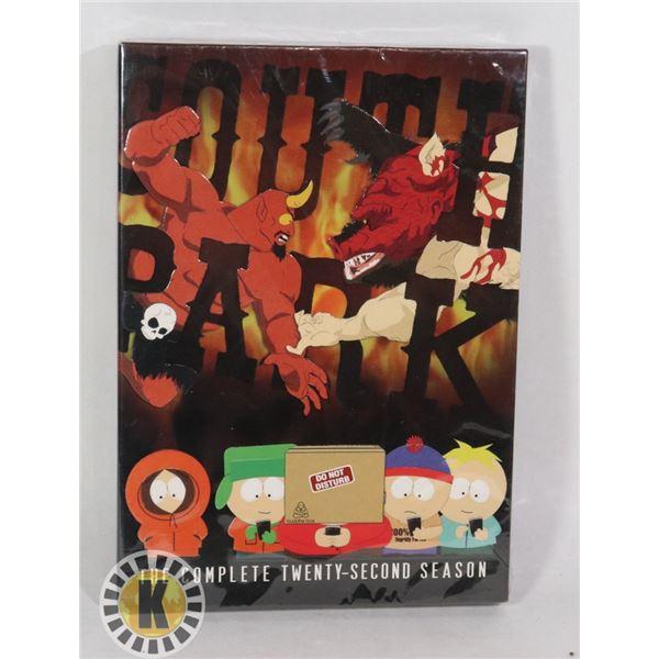 SOUTH PARK DVD TWENTY SECOND SEASON