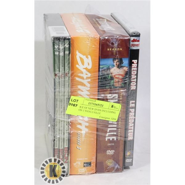 BUNDLE OF NEW DVDS INCLUDING SEASON 1 SMALLVILLE