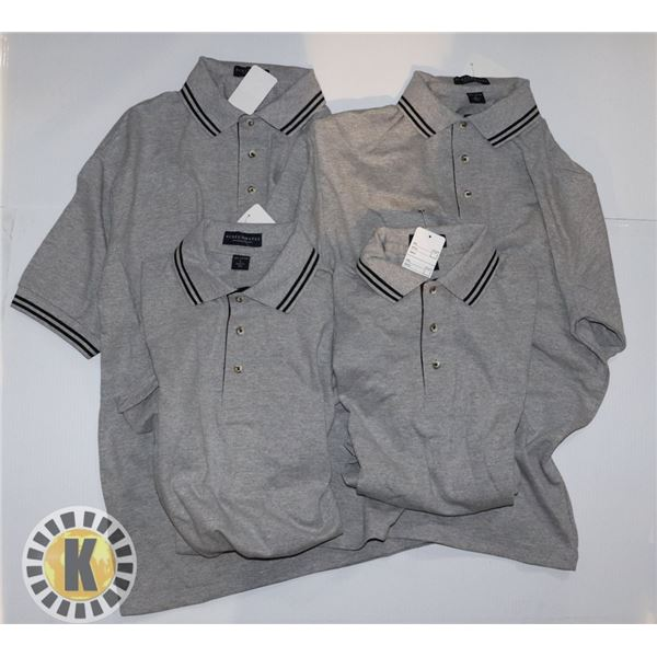 GOLF SHIRTS EXTRA LARGE PACK OF 4