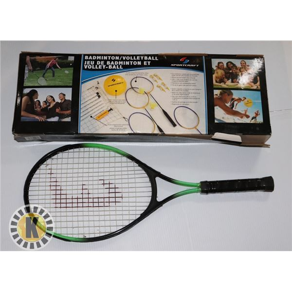 VOLLEYBALL AND BADMINTON RACKET LOT