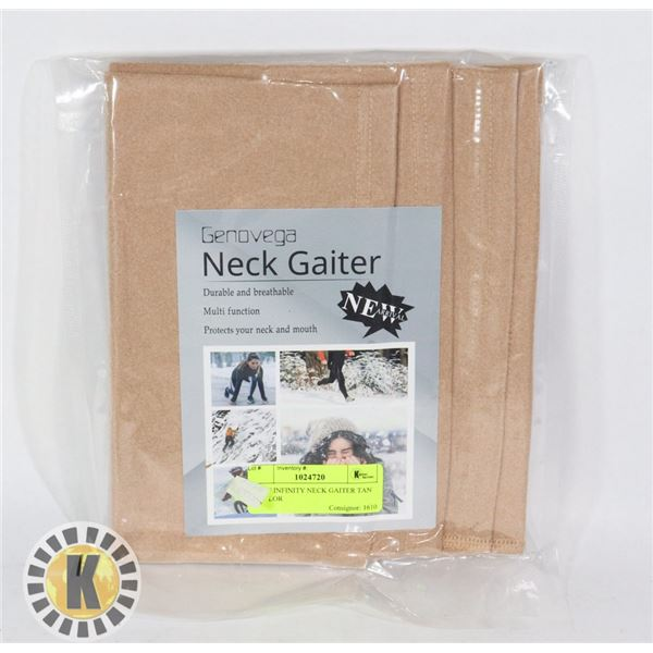 SCARF INFINITY NECK GAITER TAN IN COLOR