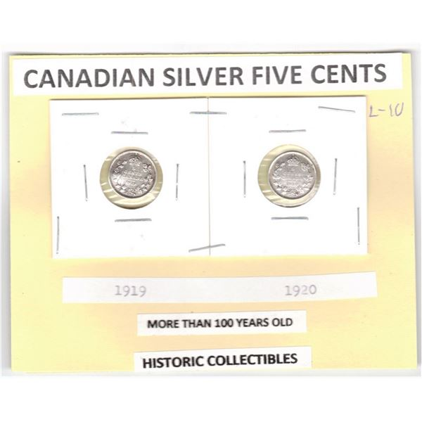 Silver Five Cents - 1919 and 1920