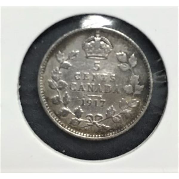 Silver Five Cents - 1917 and 1918