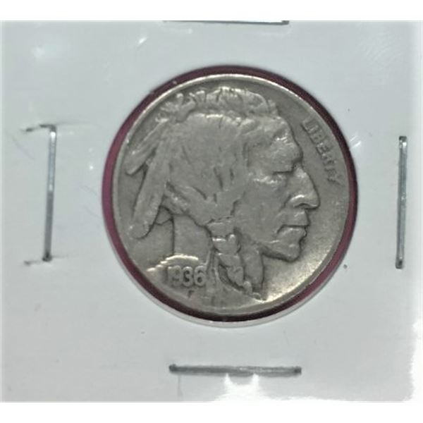 1936D U.S. Indian Head-Buffalo Five Cent - Historic Collectible