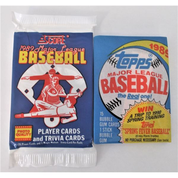 Score 1989 Major League Baseball Cards & Topps 1989 Major League Baseball Cards - Unopened Packs