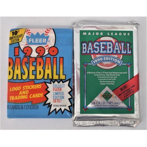 Fleer 1990 Baseball Cards & Major League Baseball 1990 - Unopened Packs
