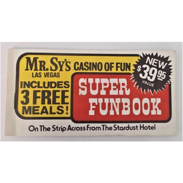 Vintage Mr. Sy's Casino of Fun - Las Vegas Coupons