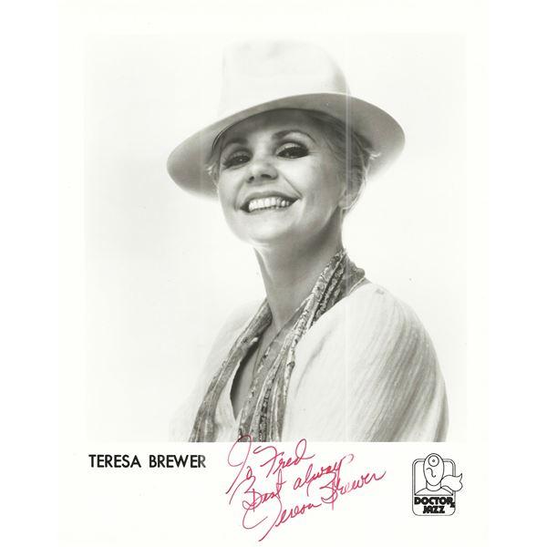 Teresa Brewer signed photo