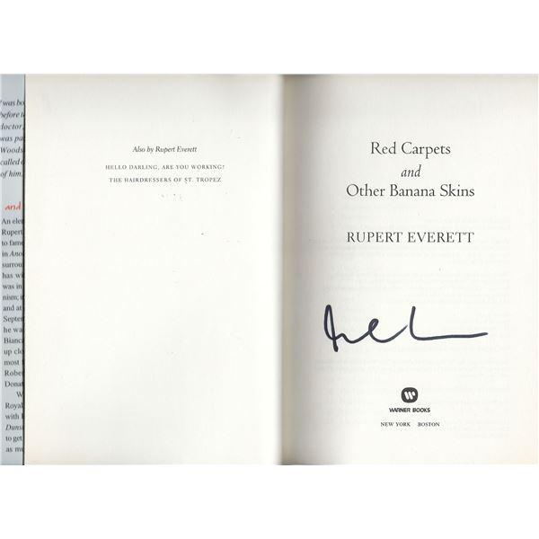 Rupert Everett signed book
