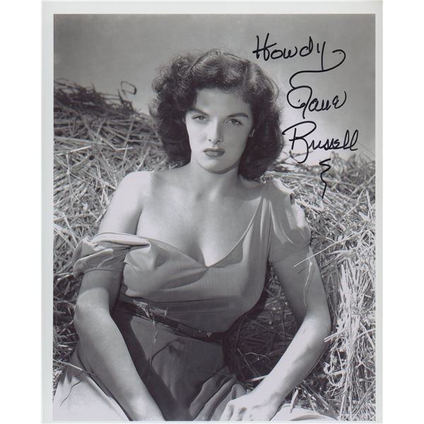 """Jane Russell signed """"The Outlaw"""" movie photo"""