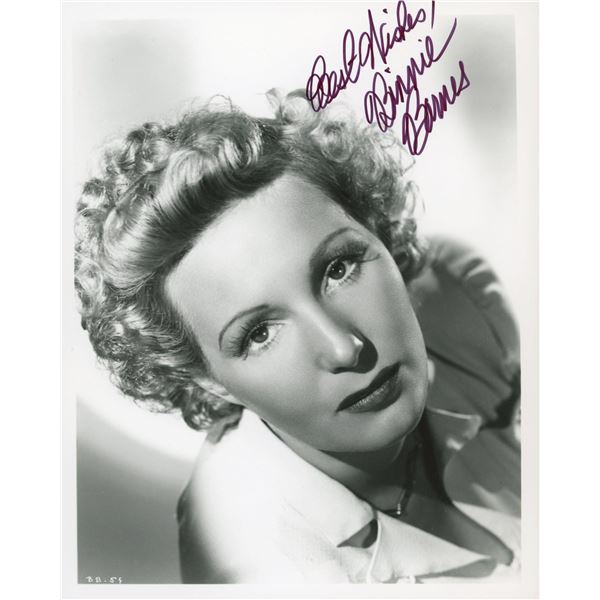 Binnie Barnes signed photo