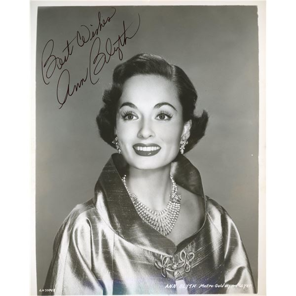 Ann Blyth signed photo