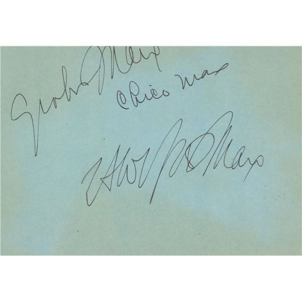 The Marx Brothers signature cut