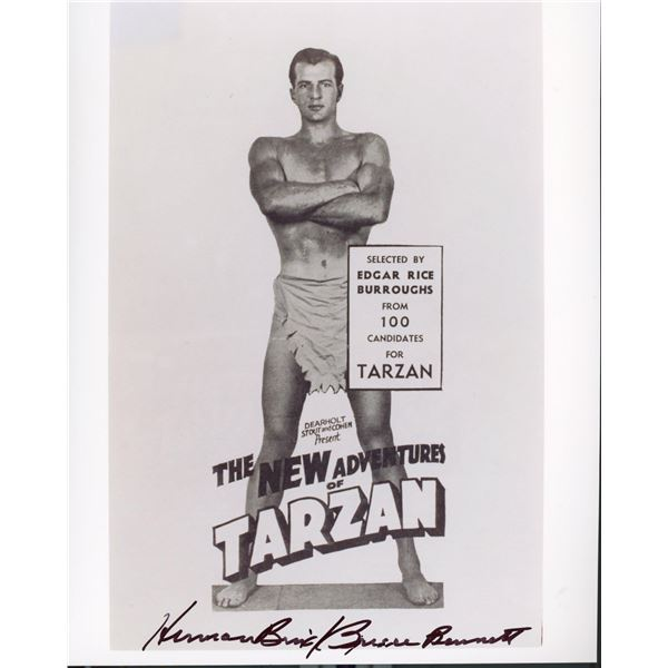 Bruce Bennett signed Tarzan photo