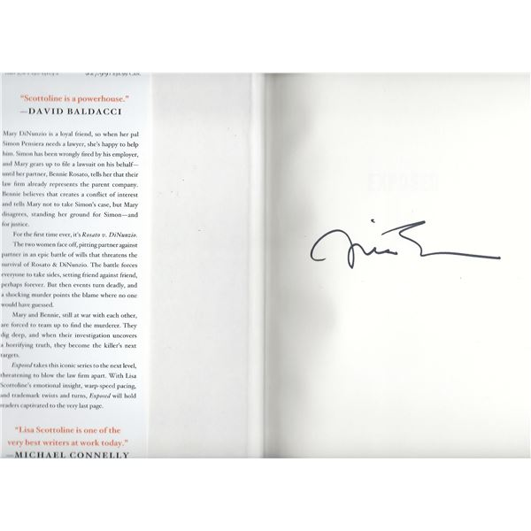 Exposed Lisa Scottoline signed book